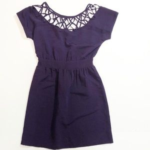 Silence + Noise Purple Fit and Flare Dress